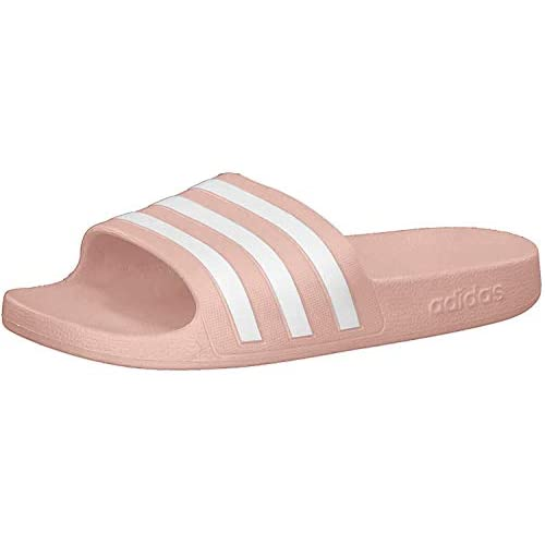 adidas Adilette Aqua, Ciabatte Donna, Rosa (Dust Pink/Ftwr White/Dust Pink), 40.5 EU