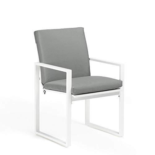SKLUM Pack 2 Sillas con Reposabrazos de Exterior Fhati Aluminio Blanco - (Elige Color)