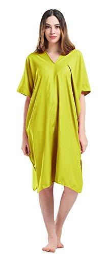 Icegrey Adultos Changing Robe Toalla Poncho con Capucha para Hacer Surf, Nadar Traje de Cambio, Talla única Verde