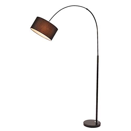 WYFX Lámpara estándar Europea Sala de Bodas Creativa Lámpara de pie con Base de mármol Control Remoto Inteligente Pantalla Negra 7W, E27 Color Regulable