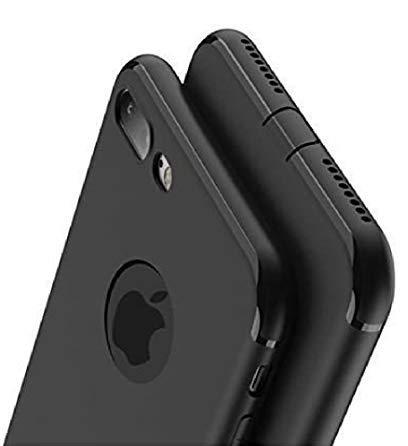 PfX Schwarz Matte Hülle kompatibel für iPhone 8, 4.7 Zoll, mit integriertem Staubschutz Ultra-Slim (Black-Line)