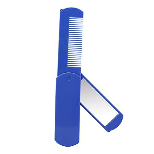 Cepillo plegable para el pelo, cepillo plegable para barba con espejo plegable...