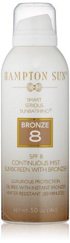 Hampton Sun SPF 8 Bronze Continuous Mist Sunscreen, 5 Oz