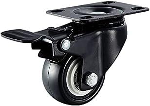 Set van 8 zware wielen 50 mm 4 stuks + 4 stuks 360 graden zwenkwielen schroeven draaiwiel rubber wielen pallet meubilair w...