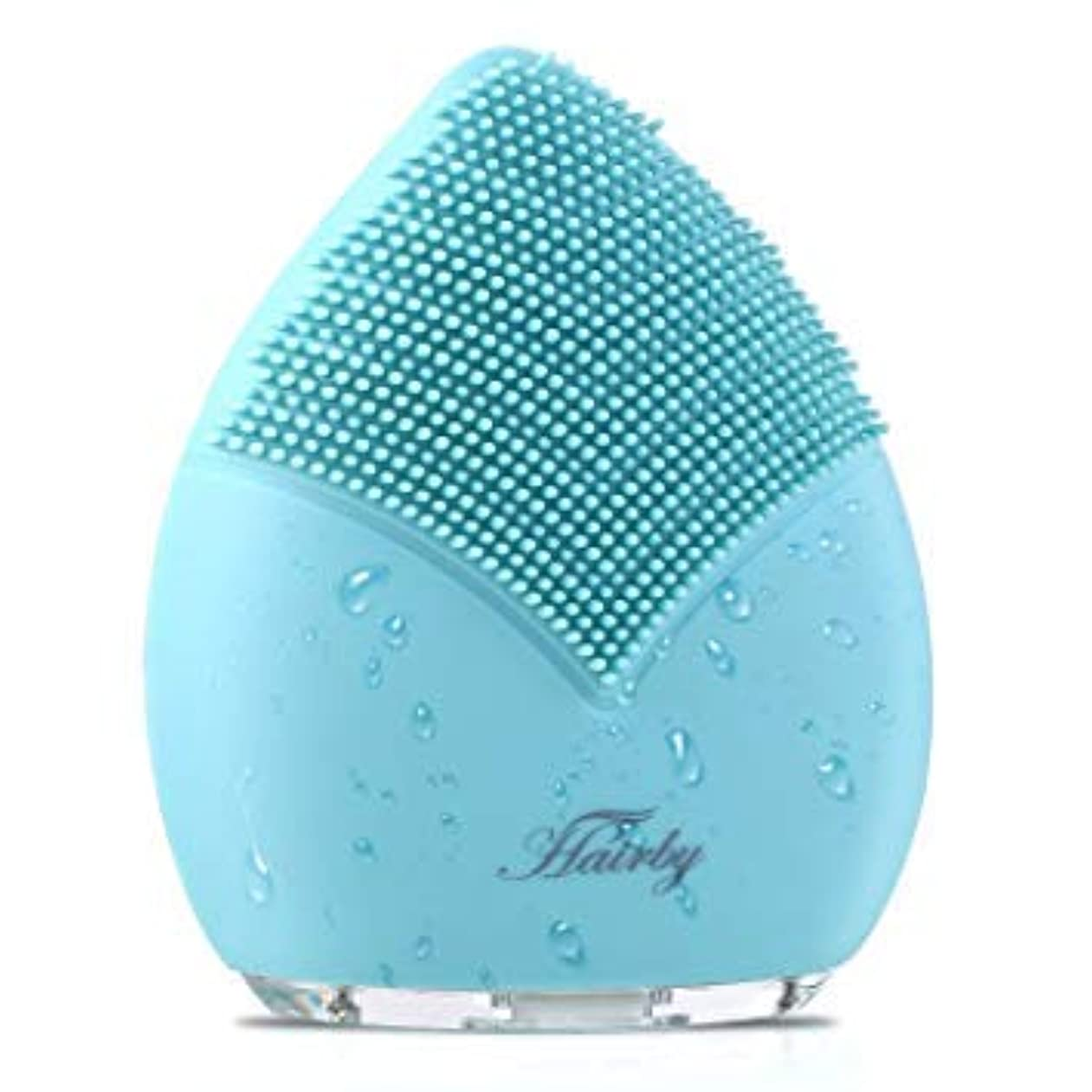 [Hairby] [Hairby フェイシャルクレンジングブラシ Facial Cleansing Brush, Silicone Face Brush Sonic Electric Face Cleanser, Ions Massager ] (並行輸入品)