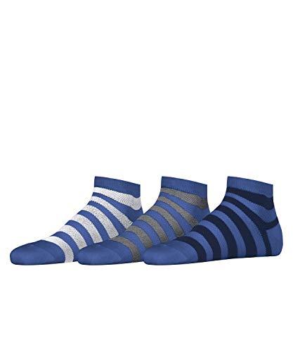 ESPRIT Herren Mesh Stripe 3-Pack M SN Socken, Blau (Deep Blue 6046), 40-46 (UK 6.5-11 Ι US 7.5-12) (3er Pack)