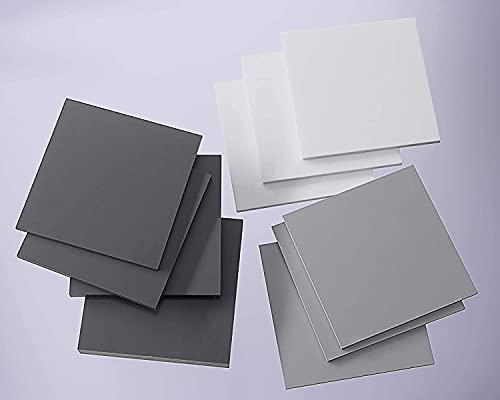 nattmann PVC Hartplatte grau 2-25 mm Zuschnitt SIMONA® RÖCHLING® TROVIDUR® (5 mm, 195 x 195 mm)