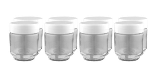 Euro Cuisine Glass Jars for Yogurt Maker, Set of 8