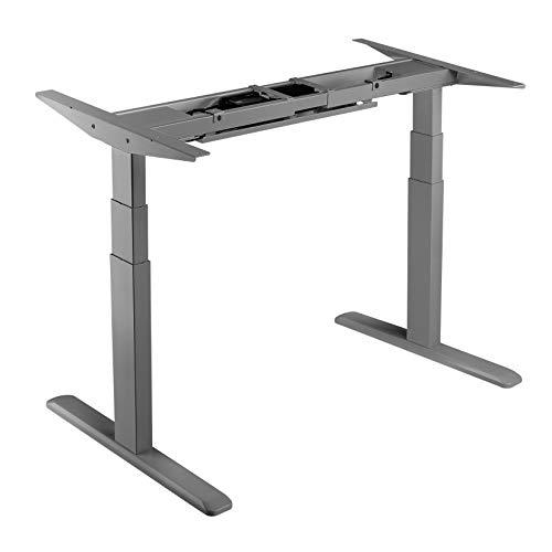 LogiLink EO0001G elektrisch höhenverstellbares Schreibtischgestell 3-stufig mit Doppelmotor