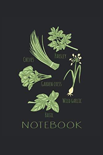 Cuaderno de hierbas de jardín y hierbas: Herbs & Garden Herbs Cuaderno para un coleccionista de hierbas, jardinero o amante de las hierbas I 120 ... en blanco para anotar citas, notas e ideas.