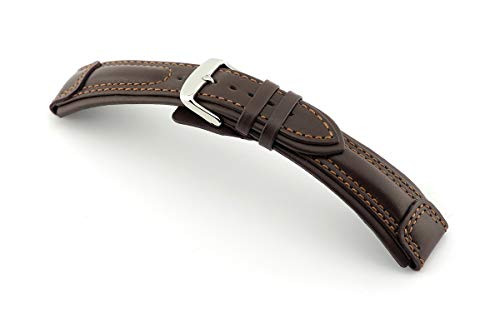RIOS1931 Apulia Uhrenband handgemacht in Deutschland Klassisch 20mm Mokka