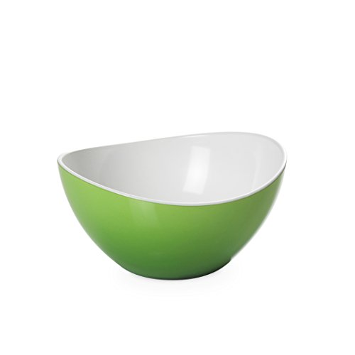 Omada Design Ciotola Bicolore, Diametro di 12 cm, Resistente agli Urti, Made in Italy, Impilabile, Lavabile in Lavastoviglie, Linea Trendy, Colore Verde/Bianco