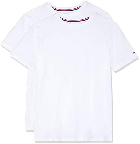 Tommy Hilfiger Herren Baumwoll-T-Shirts Zwei Packung Weiß S