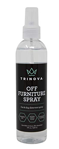TriNova Off Furniture Spray - Deterrent for Pets, Cats, Dogs, Puppies, Kittens - Anti-Scratch Rosemary, Ginger, Geranium, Lemongrass Training Aid, Made in USA