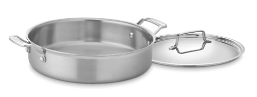 Cuisinart MCP55-30N MultiClad Pro Stainless 5-1/2-Quart Casserole with Cover