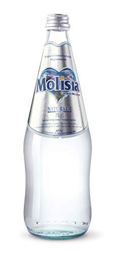 MOLISIA L'Acqua del Cuore, Acqua Minerale Naturale Oligominerale in Vetro da 0.75 cl - Confezione da 6 Bottiglie - 100% Plastic Free, Made in Italy
