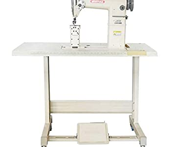 Yamata GC/FY810 Sewing Lockstitch,Reverse,Post Bed,Roller Feed +Table+Motor+Assembly Required.DIY.