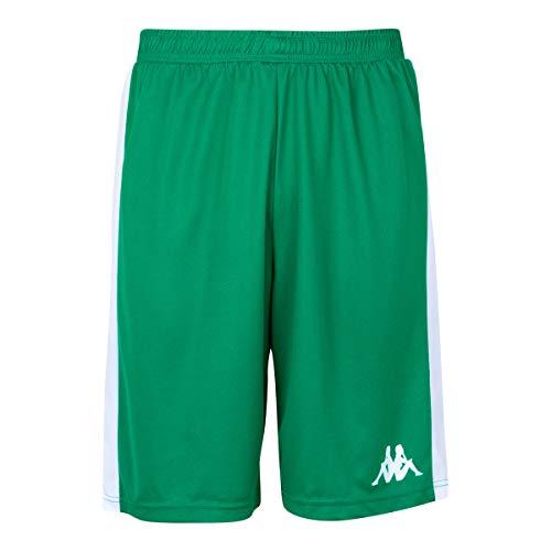 Kappa - Short Basket Caluso - Man - 2XL - Vert, Blanc