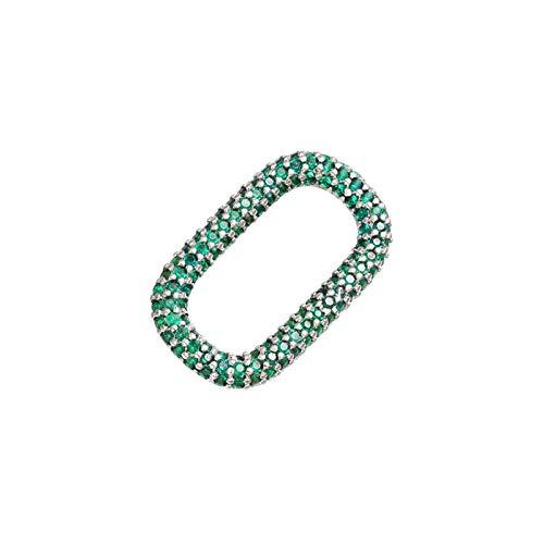 JINGGEGE 1pcs Crystal Heart/Star/Rectangle Colgante Joyería Hacer Suministros para Las Mujeres Accesorios para Collar de Bricolaje (Metal Color : Antique Bronze Plated)
