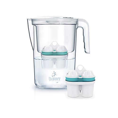 BWT Wasserfilter VIDA 2,6 l weiß mit 2 Filterkartuschen Zinc + Magnesium Mineralized Water | Immunsystem schützen mit Zink