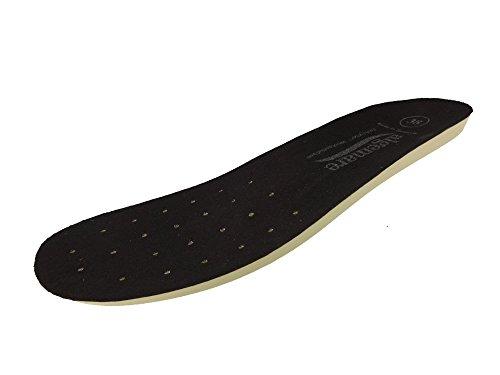 Algemare Damen Ersatzfußbett Wechselfußbett waschbar Sani-Pur Decksohle Microfaser 9388_0101 für Algemare Sandalette Pantolette Clog Hausschuh, Größe:37 EU