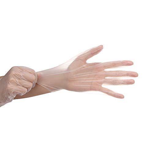 CHRONSTYLE Einweghandschuh | 100 Stück | Nitril Einzelhandschuhe Weiß in praktischer Spenderbox | Ideal für Hygienebereiche - wie Lebensmittelbranche, Kosmetik UVM. | latexfrei (Transparent, M)