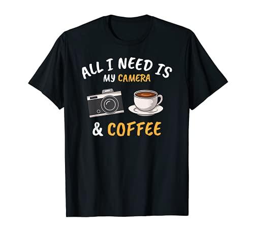 Cámara Fotógrafo Café Fotografía Camiseta