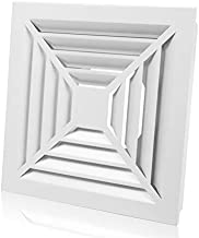 12'' X 12'' HG POWER Aluminum Grilles Vents, Air Grilles Duct Cover Vents with 4 Inch Ducting Diameter for Indoor Ceiling Use