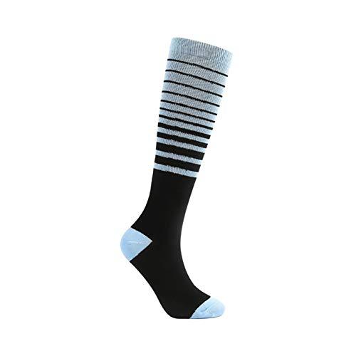 2ST Specialized Outdoor Sports Compression Socks Herren Damen Mehrfarbig Lauf elastische Schutzbeindruckstrümpfe (Color : Blue, Size : 40 45)
