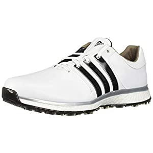adidas Men's TOUR360 XT Spikeless Golf Shoe, FTWR White/core Black/Silver Metallic, 10 M US