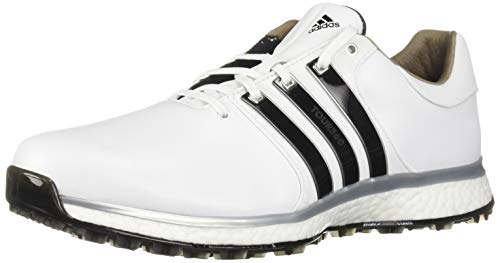 adidas Men's TOUR360 XT Spikeless Golf Shoe, FTWR White/core Black/Silver Metallic, 9 M US