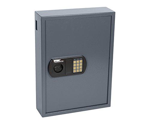 OfficeForce® Digitaler Schlüsselkasten, Schlüsselschrank, Sicherheit, bis 100 Schlüssel, Doppellbolzen Codeschloss (20102)