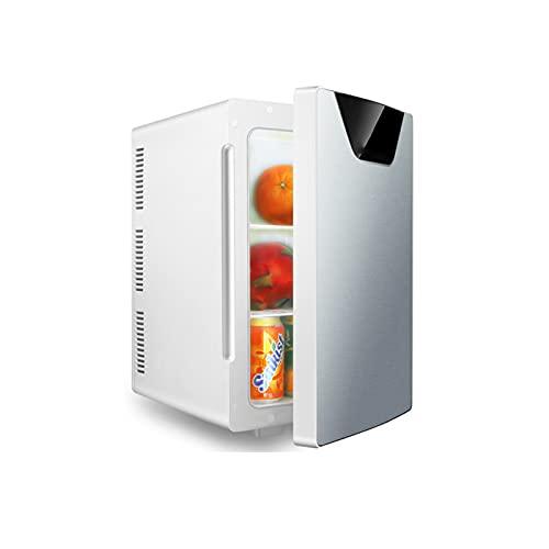Mini-Frigoríficos Coche Mini refrigerador pequeño 20L hogar Dormitorio cosméticos refrigeración portátil Ahorro de energía pequeño refrigerador,Silver,Single Core