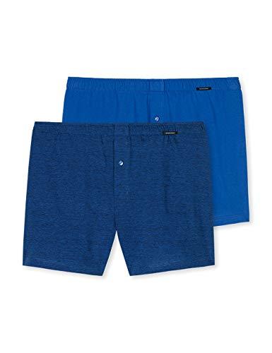 Schiesser Herren (2er Pack)' Boxershorts, Dunkel Blau (Royal), XL