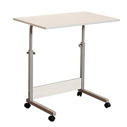 Heim-Beistelltische Verstellbarer Tragbarer Laptop-Schreibtisch Talbe-Schreibtisch Abnehmbarer Heimlift-Laptop-Nachttisch, BOSS LV, Weiß