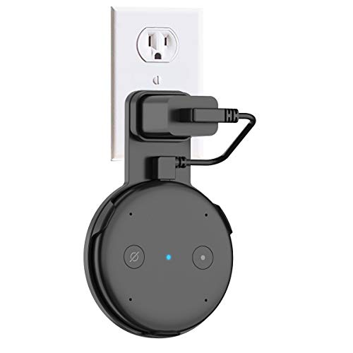 SPORTLINK Outlet Wall Mount Holder for Echo Input,No Messy Wires or Screws (Only for Black Input - Not Compatible with White Input)