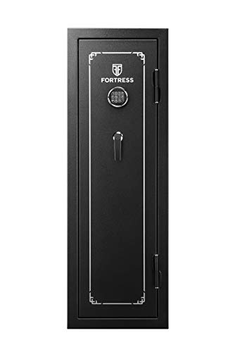 Fortress 14-Gun Fireproof Safe with Combination Lock, Black