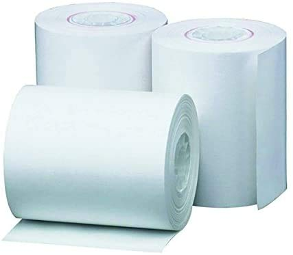 Credit Card Machine Chip & Pin Roll 20pk, 57 x 38mm x 12 Meter Thermisch, Wit Pack of 20 - 400 Rolls