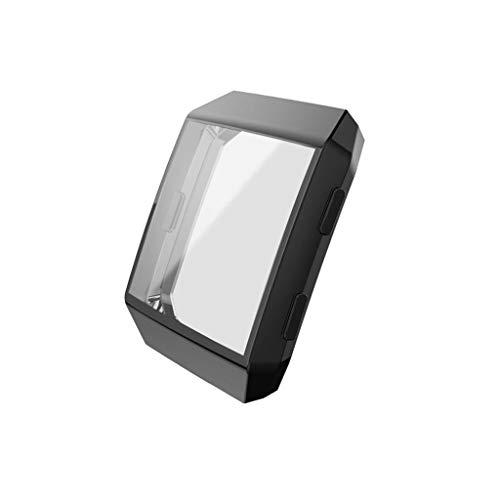 Kompatibel mit Fitbit Ionic Smart Watch Displayschutz, Nourich Abdeckung TPU Beschichtung Rundum Display Schutzhülle Schutzfolie Displayschutzfolie Schutzrahmen (Schwarz)