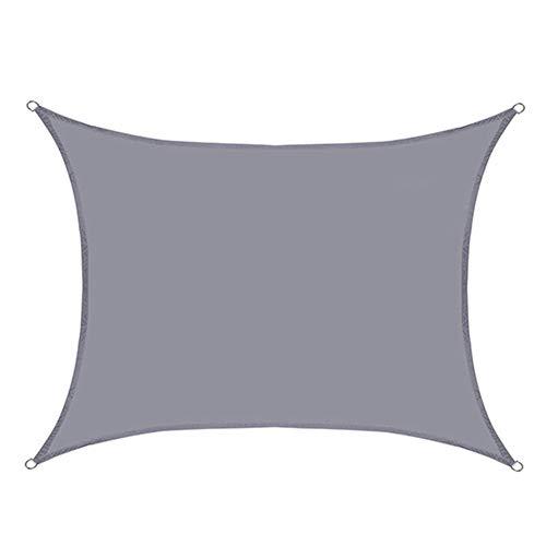 YLL Toldo Vela De Sombra Prueba Lágrima Impermeable Resistente Patio Shack Toldo Fáciles De Limpiar Resistente para Terraza Camping Jardín Al Aire Libre (5 Tamaños),Gris,4X4M