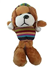 Aayam Design and Solutions Dog Shape, Brown Color Soft Toy Magnet for Fridge and Magnetic memo Boards.