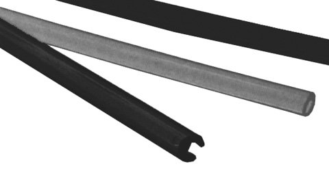 WINDSHIELD TRIM BLACK 1.00X60