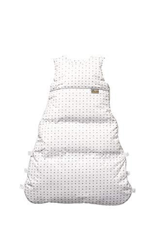 Set ARO Artländer Daunenschlafsack mit Stoffwindel von Kinderhaus Blaubär/Winterschlafsack längenverstellbar/Baby-Schlafsack mit Premiumdaunen, Größe:80 (70/60), Design:Sternenhimmel