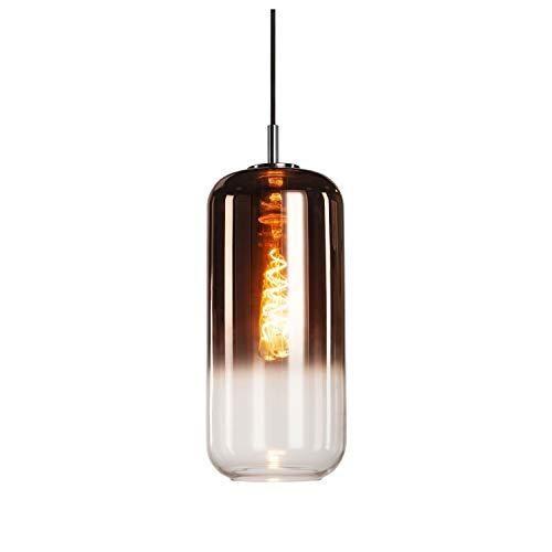SLV Pendelleuchte PANTILO 16 / Wohnzimmer-Lampe, Innen-Beleuchtung, Hänge-Leuchte Esszimmer, LED, Decken-Leuchte / E27 15.0W kupfer