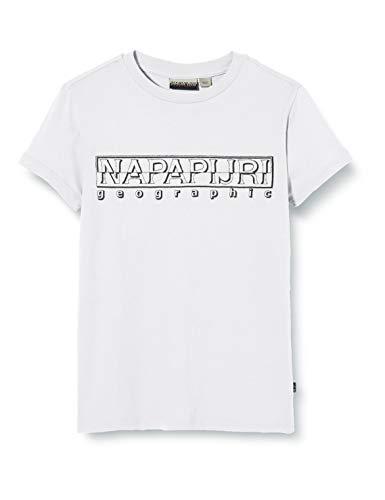 NAPAPIJRI K Soli SS Sum T-Shirt, Bianco (Bright White 0021), 8 Anni Bambino