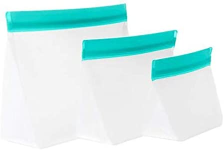 mumi Reusable Zip Up Bags Food Storage Bags Travel Organizer Airtight and Leak proof Seal Expandable product image