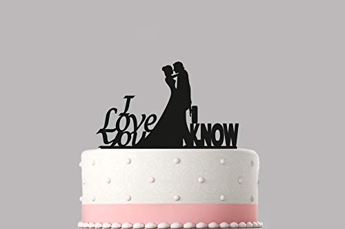Cake Topper I Love You I Know Star Wars Wedding Various Colours Sizes High Quality Item Choice Of Colours Available