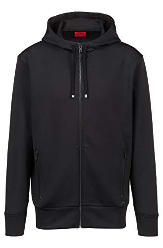 Hugo Kapuzen-Sweatshirt Jacke DANTONY aus Stretch-Gewebe mit kontrastfarbenen Reißverschlüssen 001 (S)