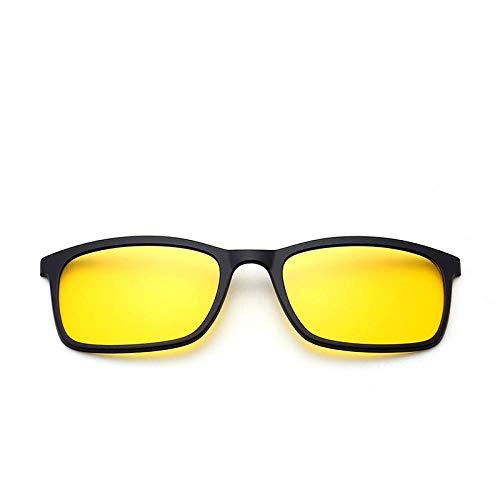 NIUASH Sonnenbrille polarisiert Polarisierte Sonnenbrille Männer Frauen Magnetclip auf Brille TR90 Optische Cat Eye Brille Full Frame Treiberbrille-C