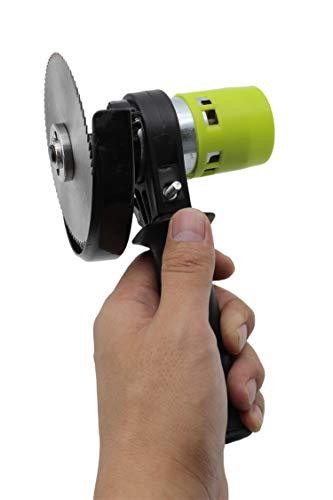 APROTII Mini sierra eléctrica, 24 V 90 W de alta potencia de la sierra eléctrica del hogar con herramienta de corte de hoja de sierra circular de 4 pulgadas